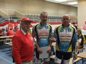 Hans und die Fahrer von Linselles Cyclisme, Robert und Stephane!